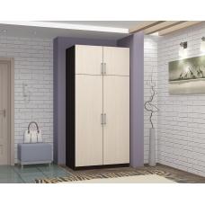 Шкаф 2-х створчатый (ЛДСП Венге + ЛДСП Дуб белфорт)