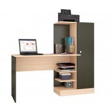 Компьютерный стол Квартет-6 (ЛДСП Венге + ЛДСП Дуб млечный, молочный)