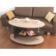 Журнальный стол Консул-4 (ЛДСП Венге + ЛДСП Дуб млечный, молочный)