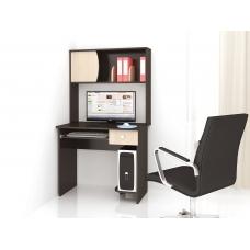 Компьютерный стол Грета-4 (ЛДСП Венге + ЛДСП Дуб млечный, молочный)