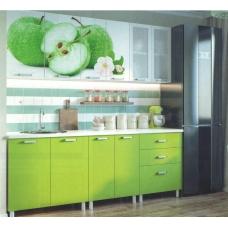 Кухня Яблоко фотопечать (ЛДСП Белый + МДФ LA 108 + В ассортименте)