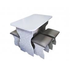 Стол+4 табуретки ЛДСП (ЛДСП в ассортименте)