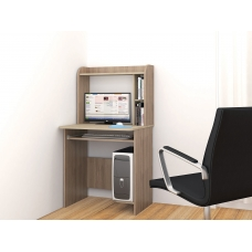 Компьютерный стол Грета-1 (ЛДСП Дуб сонома + ЛДСП Ясень шимо светлый)