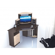Компьютерный стол Грета-7 (ЛДСП Венге + ЛДСП Дуб млечный, молочный)