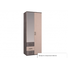 Гостиная Белла шкаф 2х створчатый (ЛДСП Венге + ЛДСП Дуб атланта)