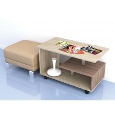 Журнальный стол Консул-5 (ЛДСП Ясень шимо тёмный + ЛДСП Дуб сонома)