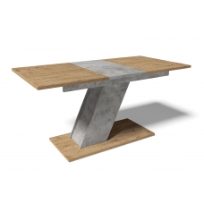 Стол обеденный раскладной Мемфис (ЛДСП Бетон + ЛДСП Антор)