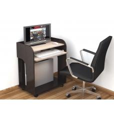 Компьютерный стол Грета-10 (ЛДСП Венге + ЛДСП Дуб млечный, молочный)