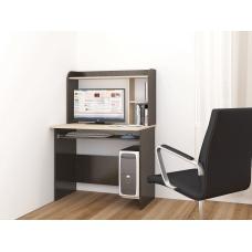 Компьютерный стол Грета-2 (ЛДСП Венге + ЛДСП Дуб млечный, молочный)