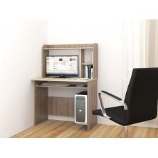 Компьютерный стол Грета-2 (ЛДСП Ясень шимо тёмный + ЛДСП Дуб сонома)