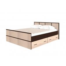 Кровать Сакура (ЛДСП Венге + ЛДСП Дуб белфорт)