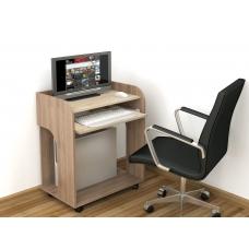 Компьютерный стол Грета-10 (ЛДСП Ясень шимо тёмный + ЛДСП Дуб сонома)